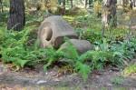 Ślimak - motyw dekoracyjny w Parku 10 tysięcy kroków.