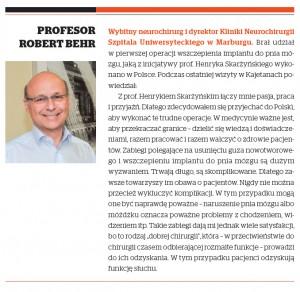 Profesor Robert Behr