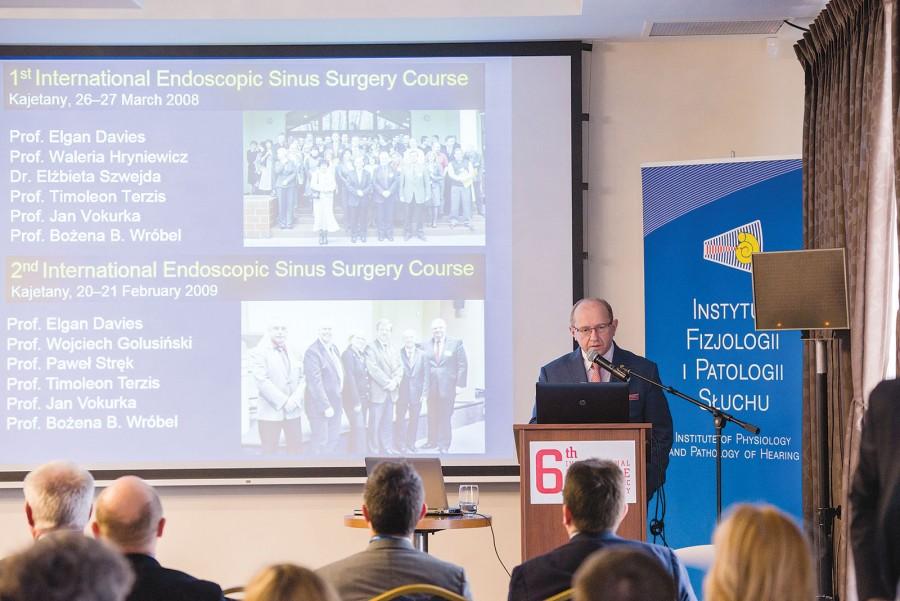 Uczestników 6. Międzynarodowego Kursu Chrurgii i Endoskopowej Zatok powitał prof. Henryk Skarżyński.