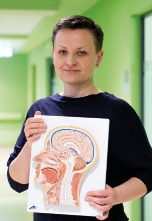 mgrJoanna Putkiewicz-Aleksandrowicz z Zakładu Implantów i Percepcji Słuchowej